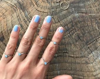 SALE Dove Lake Opal V Stacking Ring