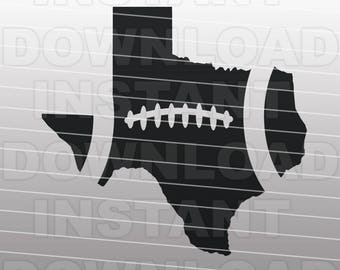 Football Texas Outline SVG File Cutting Template-Clip Art for Commercial & Personal Use-vector art file for Cricut,SCAL,Cameo,Sizzix,Pazzles