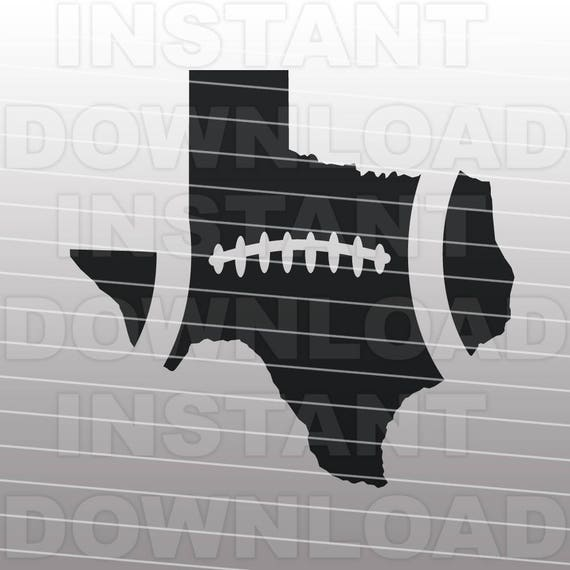 football texas outline svg file cutting template