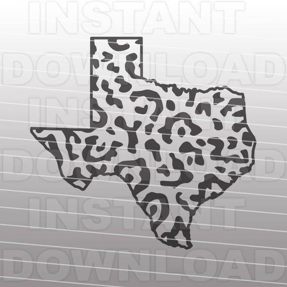 Download Texas Leopard Print SVG FileTexas State Outline SVG