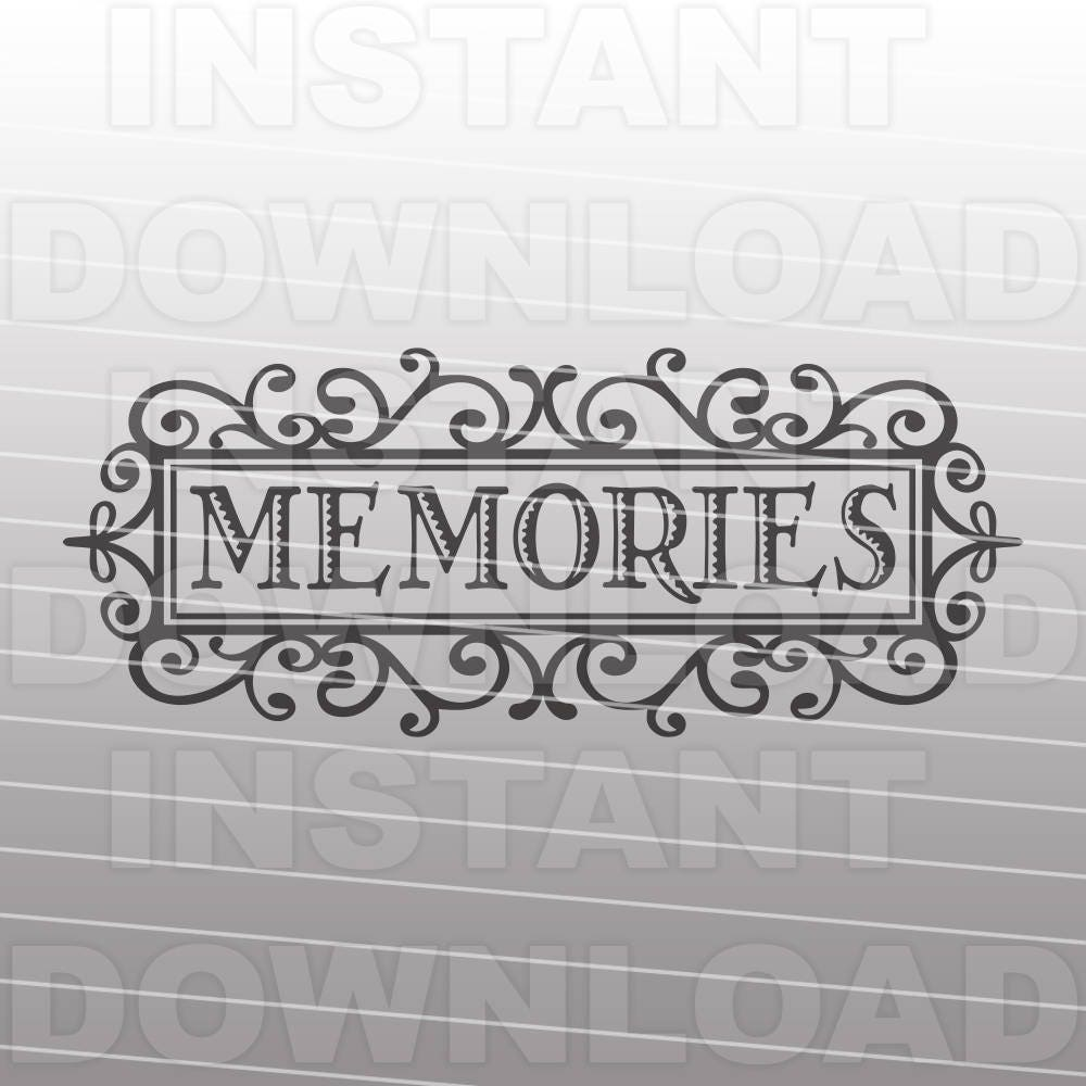 Word Art Home Decor: Memories Word Art SVG File,Memories Wall Decor Svg,Home