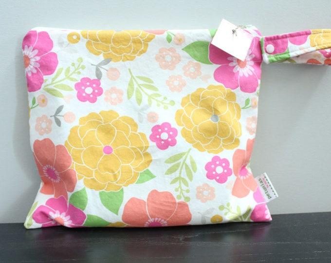 Wet Bag wetbag Diaper Bag ICKY Bag wet proof pink floral gym bag swim cloth diaper accessories zipper gift newborn baby kids beach bag