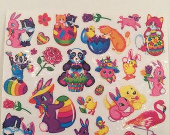 Lisa Frank, Tattoos, Vintage, Hallmark, Single Sheet, Scrap Booking, Sticker Collecting, Craft ~ SS002