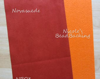 Novasuede Microfibor Fabric with Free Nicoles BeadBacking Burnt Orange NBO3