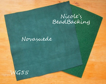 Ultrasuede/Novasuede Microfibor Fabric with Free Nicoles BeadBacking Winter Green WG55