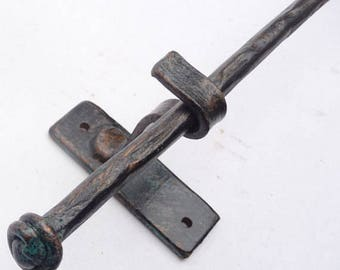 Curtain Rod Drapery Hardware - 6 Foot Rustic Forged Steel - MADE-TO-ORDER