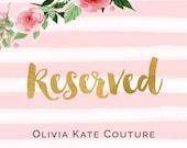 Reserved for Nicole Flower Girl Dresses