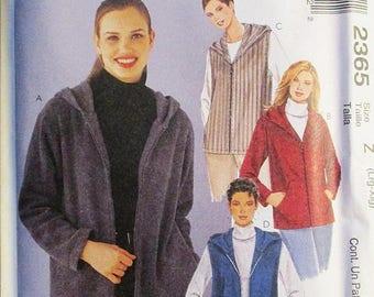 30% OFF SALE 1990s Misses Sewing Pattern McCalls 2365 Misses Jackets & Vests Pattern Size L-Xl Uncut