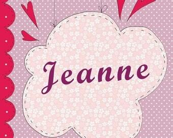 Jeanne birth announcement