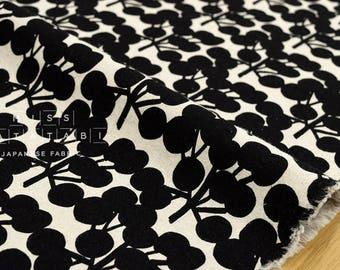 Japanese Fabric - Big wattle - black - 50cm