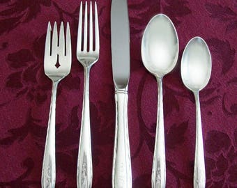 Towle Silver Flutes Complete Sterling Silver Flatware Set for 8 People