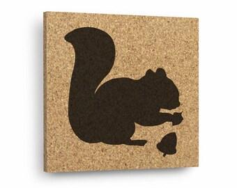 SQUIRREL Mix & Match Cork Decor Art Tiles Or Kitchen Trivet - Wall DéCork