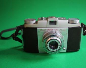 vintage KODAK Pony 135 model C camera with case