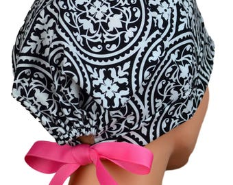Scrub Hats // Scrub Caps // Scrub Hats for Women // The Mini // The Hat Cottage // Pink Ribbon Ties // Ironwork