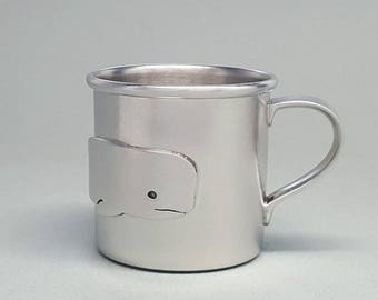 beehive baby cup - whale