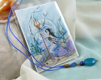 Mermaid Art Card ~ Mermaid Bookmark ~ Mermaid Book Mark ~ Beaded Bookmark ~ Fantasy Bookmark ~ Fantasy Art Bookmark ~ Fantasy Art Card