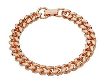 Copper Beveled Curb Bracelet