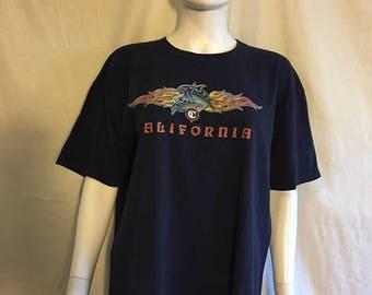Closing Shop 40%off SALE 90s Grunge California Tattoo California Dolphin t shirt Flames