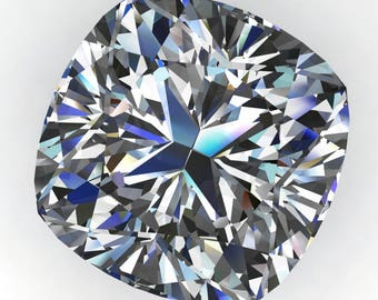 Private listing for Erin - ZAYA moissanite - 1.3 carat cushion cut moissanite, near colorless loose stone