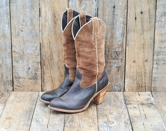 Us 6 western boot Uk 4 western boot Eu 36 western boot Uk 4 brown western Eu 36 brown boot Us 6 cowboy boot Uk 4 cowboy boot, Capezio boot