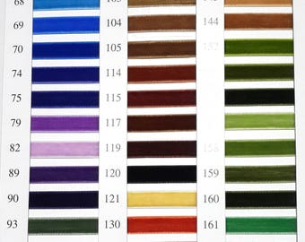 """SPECIAL Closeout Price - 200 yards - 3/8"""" Velvet Ribbon in Multiple Colors (U-PICK)"""