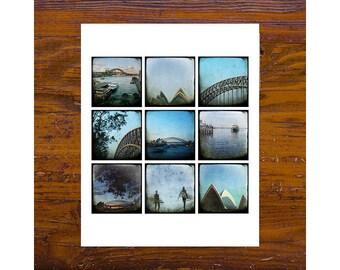8x8 Print - [Mon-51] - Sydney Images - blue