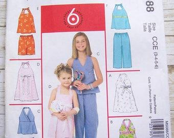 Mccalls 5088 Girls Summer Playwear sewing pattern