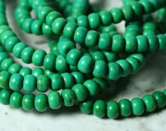 Turquoise rondelle 6x4mm, 15-inch strand (item ID F9992CL)