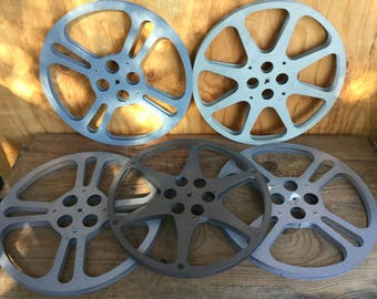 5 LOT nice vintage Movie reels  16mm film for projector or art