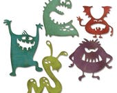 Tim Holtz Alterations Sizzix Silly Monsters Things Die Set, 15.99, Free shipping to the USA