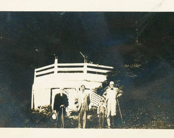 vintage photo 1920 Mineral springs Ohio Generational Men Boy