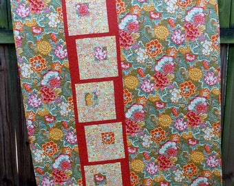 Kaffe Fassett throw lap quilt