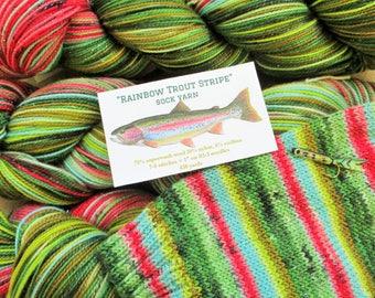 Rainbow Trout Stripe sock yarn - in stock!