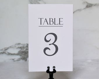 Double Sided Table Number Cards - 4x6 - 5x7 Numbers - Wedding Table Decor - Table Numbers