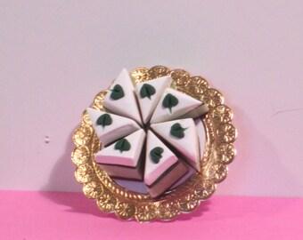 Miniature fancy green dessert