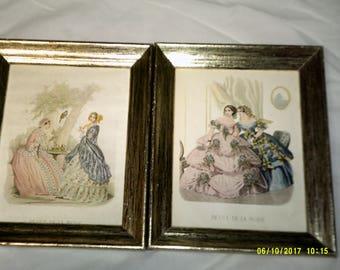 Pair of Vintage Pictures (Revue de la mode)