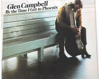 Vintage Glen Cambell LPs Stereo Record Albums By the Time I Get to Phoenix 1967, Gentle on My Mind 1967 Country Music