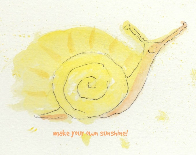 Sunshine Snail encouragement friendship card