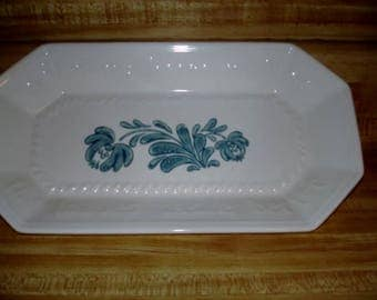 Vintage Bread Tray, Yorktowne Pattern, A Gorgeous Bread Tray and was given a pattern of pale green flowers and leaves a delightful Tray!