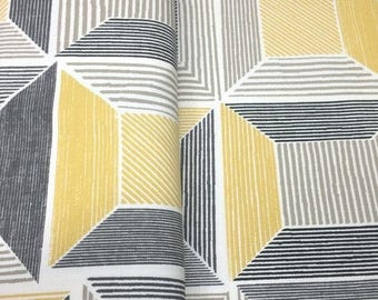 SALE - Yellow Squared - IKEA Birket Cotton Fabric