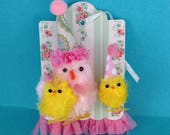 Easter Decoration Chenille Chick Tag Easter Ornament Easter Decor for Easter Party