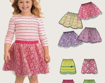 Easy to Sew Girls Classic Pull-On Skirt with Trim Variations Sewing Pattern New Look 0176 Sizes 3-4-5-6-7-8 UNCUT