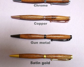 Mesquite Slimline Pen in 6 different finishes to choose from.