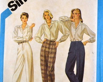Christmas in July Vintage Sewing Pattern Simplicity 6518 Proportioned Pants  Size 10 Waist 25 Inches UNCUT Complete