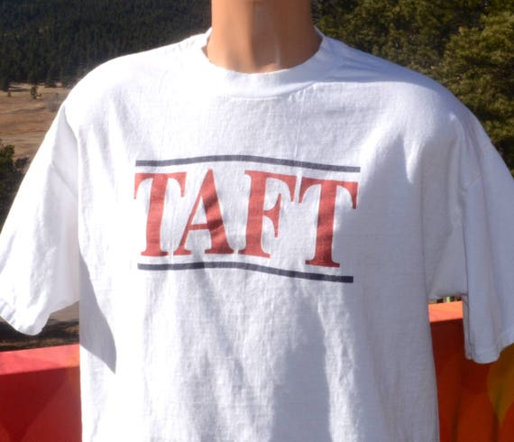 80s vintage tee TAFT SCHOOL boarding private connecticut prep t-shirt XL Large