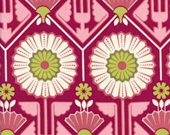 Joel Dewberry Fabric - Modern Meadow, Sunflower in Berry - FAT QUARTER SALE
