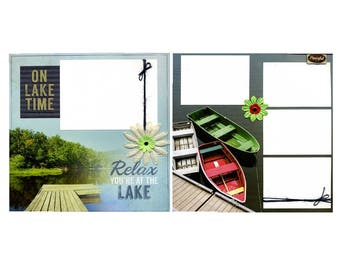 On Lake Time - Premade Scrapbook Page Set