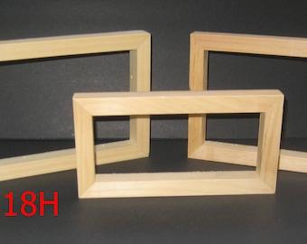 3 open face box frames