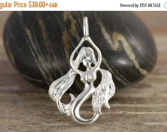 CLOSING SALE Virgo zodiac charm in sterling silver - zodiac necklace - zodiac jewelry - zodiac pendant