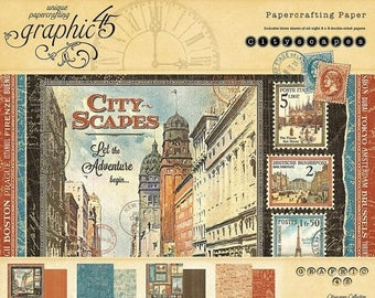 NOW ON SALE Graphic 45 Cityscapes 8x8 Paper Pad